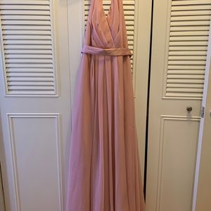 Vera Wang pink bridesmaid dress size 2